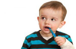 Toddler Brushing His Teeth