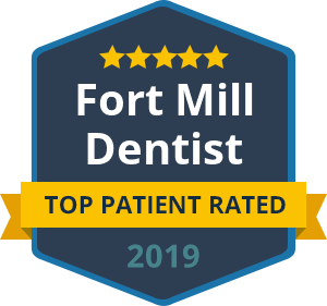 Fort Mill Top Rated Dentist 2019 badge